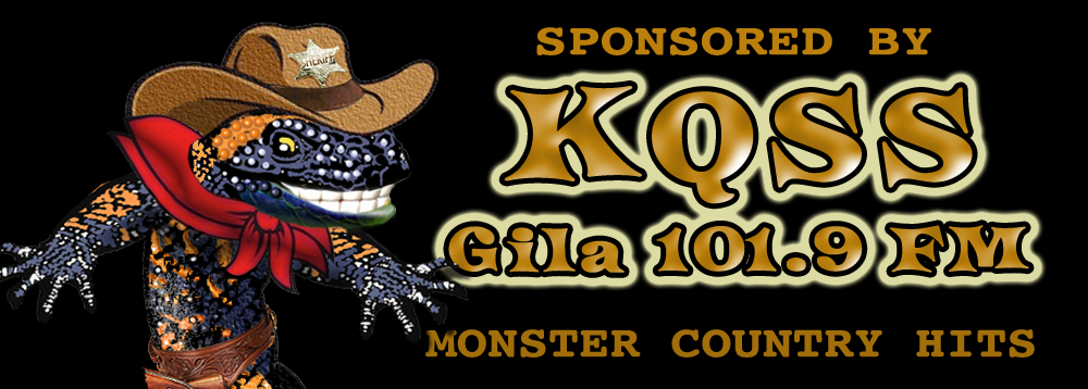 Sponsored by KQSS Gila 1019 FM.  Home of the Monster Country Hits.